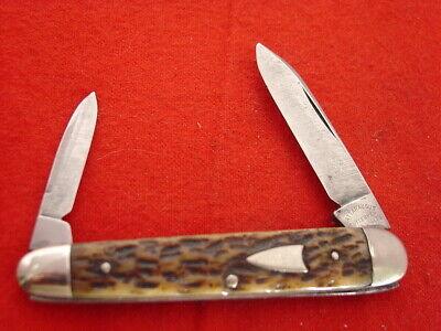"vintage Cattaraugus Little Valley NY 3-3/8"" 2 Blade 2275 Sleeveboard Knife"