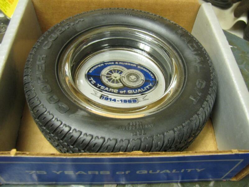 Cooper Cobra Tire Ashtray 75th Anniversary 1914-1989 In Box