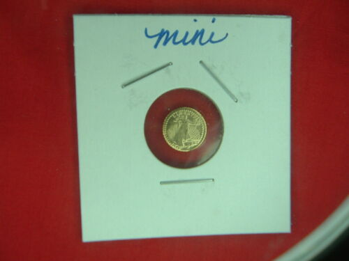 3 FOR 1 PRICE NICE 1907 MINI ST GAUDENS 1/2 GRAM ROUND FINELY DETAILED