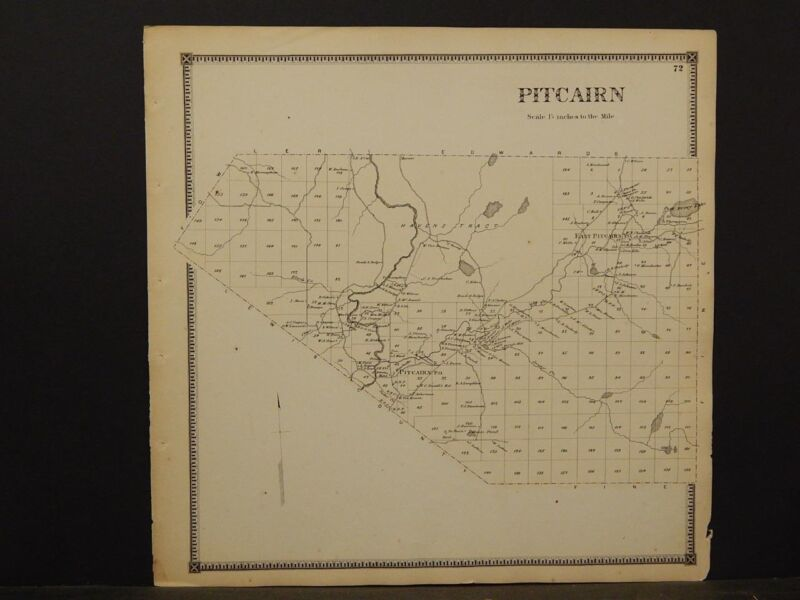 New York, St. Lawrence County Map, Pitcairn Township 1865  Y5#68