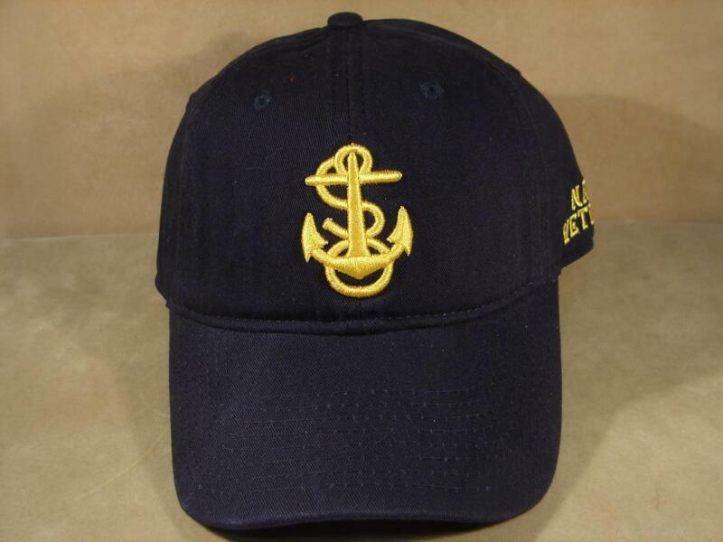 Navy Anchor Veteran Adjustable Back Hat