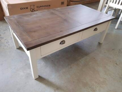 BOXED! NEW! Brighton 4 drawer coffee table! white timber