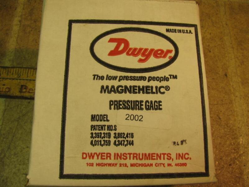 Dwyer Magnehelic Pressure Gauge Model 2002