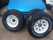 4x4 rims/tyres ford courier/barvo/nissan ect. Wangara Wanneroo Area Preview