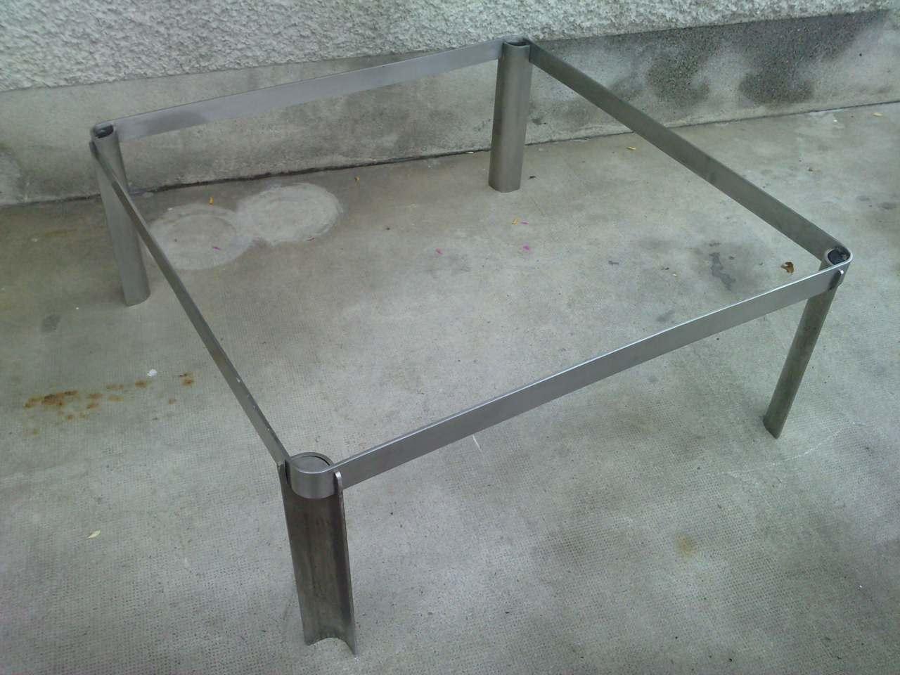 Grande Table Basse Chrome Design 70 Coffee Tavolo Inox Eur 260 00 Picclick Fr
