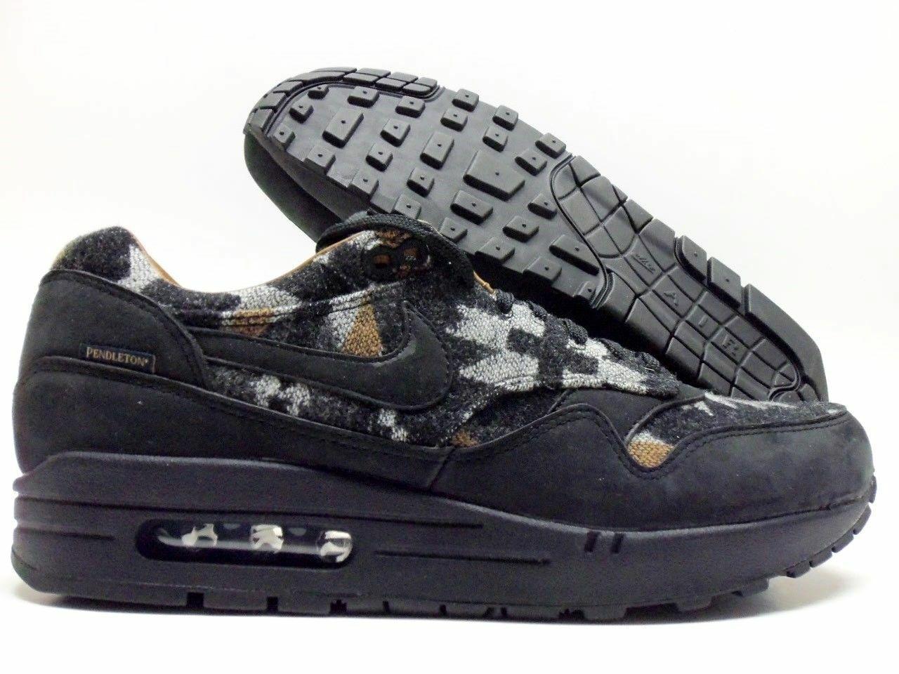 Details about Nike Air Max 1 PND QS Pendleton Premium Black Ale Brown Men's 825861 004 SZ 14