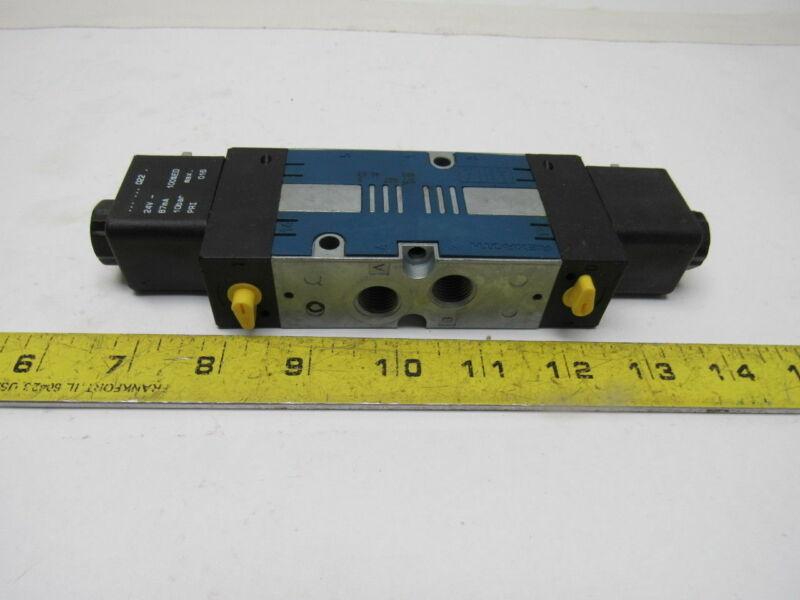 "Rexroth 5776270220 Pneumatic Air Solenoid Valve 24VDC 14""npt Ports"
