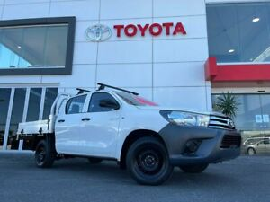 2017 Toyota Hilux GUN122R Workmate Double Cab 4x2 White 5 Speed Manual Utility Tweed Heads South Tweed Heads Area Preview