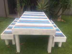 Coastal inspired table and benchseats Meridan Plains Caloundra Area Preview