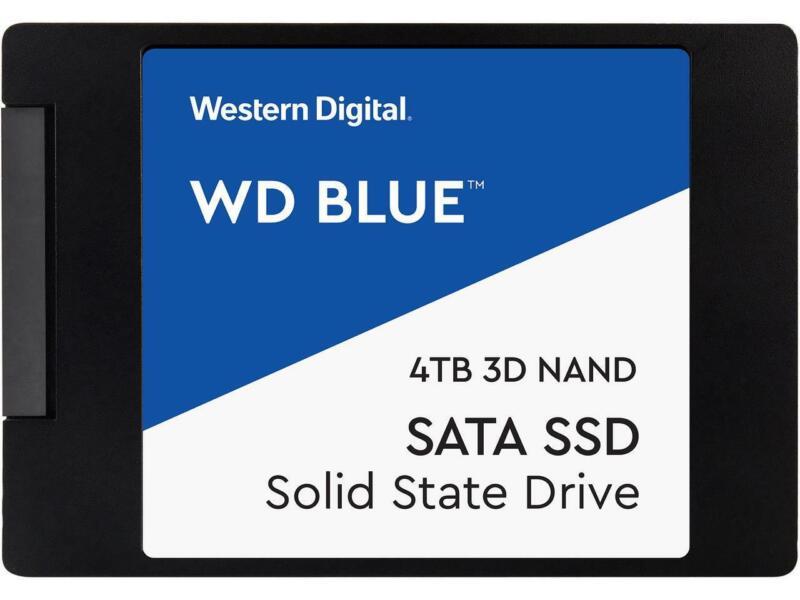 """Western Digital Blue 2.5"""" 4TB SATA III 3D NAND Internal Solid State Drive (SSD)"""