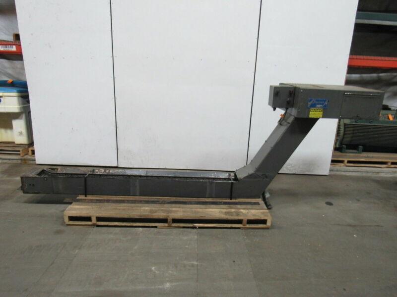 """Jorgensen 3646649 R1 Incline Chip Conveyor 84""""x10"""" Infeed 35"""" Discharge 11FPM"""
