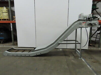 Mayfran Incline Cleated Chip Conveyor 18 Belt 6.7fpm 52 Discharge 3ph