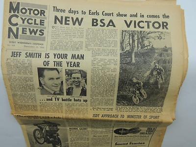1964 Motor Cycle News Newspaper Honda Triumph Yamaha Bultaco Suzuki L11603