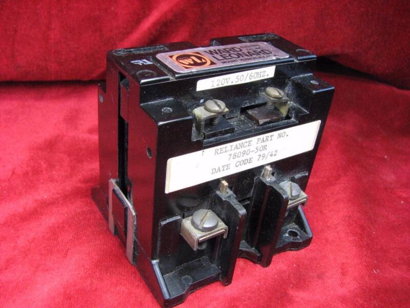 Ward Leonard 40 Amp Contactor 120v coil 500v max Starter Reliance 78090-50R