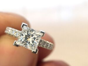 Flawless and Unique Princess Cut Ring