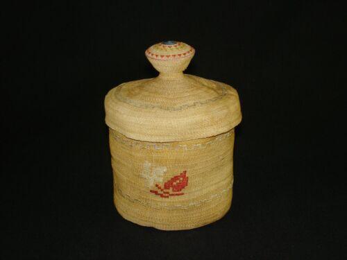A very fine Attu (Aleutian) Rattle Top Basket, Native American Indian, c.1900