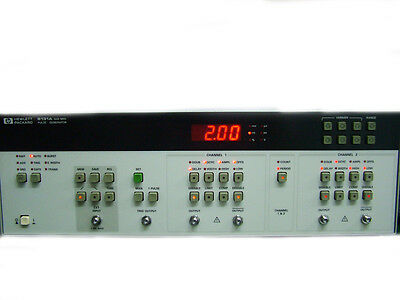 Hp 8131a Pulse Generator Opt 020 Dual Ch 500mhz Repetition Rate