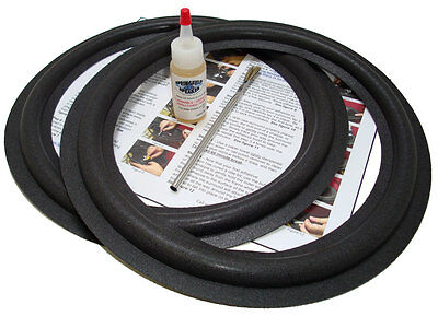 "2 Velodyne 12"" Speaker Foam Surround Repair Kit - 2a12b"