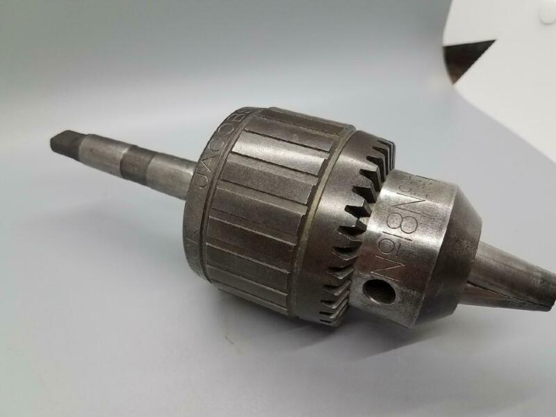 """Jacobs No.18N BALL BEARING SUPER CHUCK  1/8""""-3/4"""" With Morse Taper No.2"""