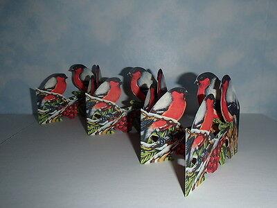 Scandinavian Swedish Cut Out Fold Out Table decorations Winter Birds #BK33