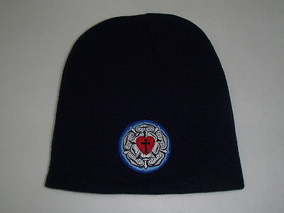 Rose Beanie Hat - Lutheran Rose,  Lutheran Cross Knit Beanie Hat Embroidered design