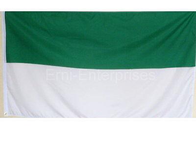 Fahne Flagge Verein Schützenfest XXL Grün Weiss  2,5 Meter x 1,5 Meter  mit Oese
