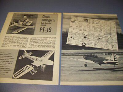 VINTAGE..FAIRCHILD PT-19 R/C AIRPLANE.. R-C MODEL PLANS..RARE! (464U) for sale  Shipping to Canada