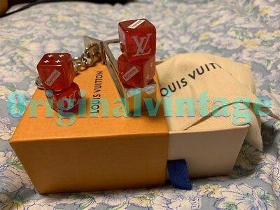LOUIS VUITTON x SUPREME RED DICE KEYCHAIN BOXLOGO MONOGRAM YEEZY