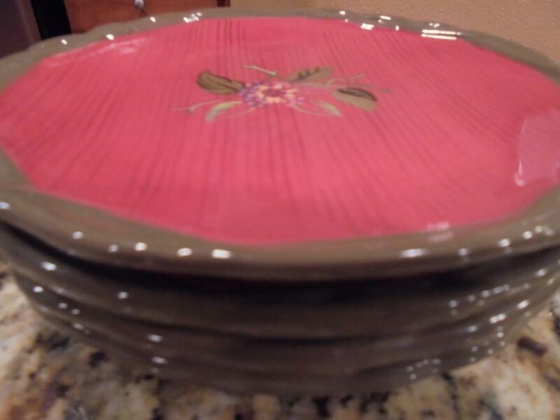 4 Tracy Porter Octavia Hill collection salad/dessert plates excellent condition