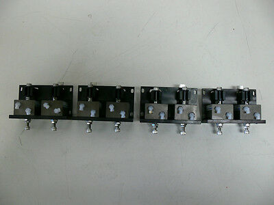 Lot Of 8 Fabco Air Fps-1614 Actuator Index Assembly Cylinders On Mounting Plates