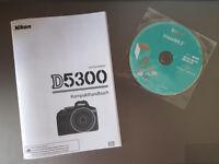 Original D5300 Kompakthandbuch deutsch mit Nikon ViewNX 2 auf CD