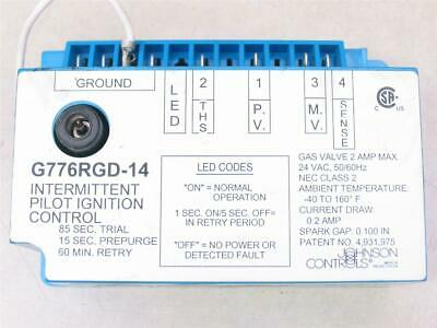 Johnson Controls G776rgd-14 Intermittent Pilot Ignition Control