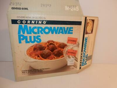 VINTAGE CORNINGWARE COOKWARE M-245 MICROWAVE PLUS COVERED BO