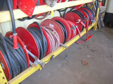 FIRE HOSE REELS WITH MOUNT & NOZZLE