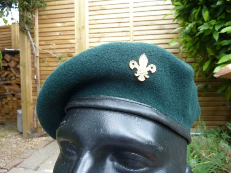 Vintage Bukta Scout Beret, Royal Marines Commando Green, 7 1/4