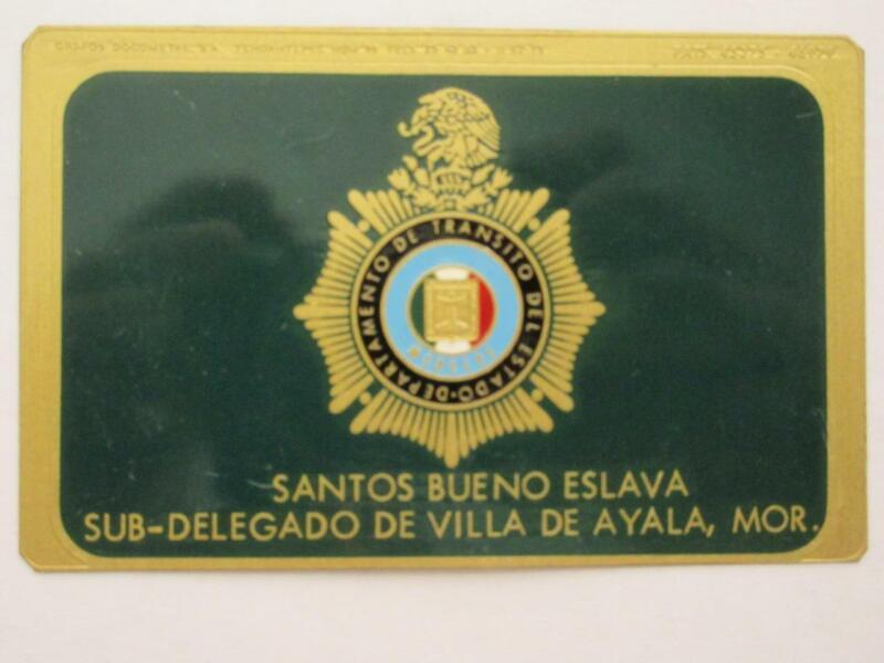 OBSOLETE 1960s VILLA DE AYALA MORELOS MEXICO SUB-DELEGATE MEXICAN POLICE BADGE