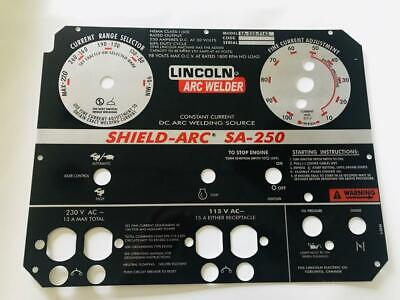 Lincoln Arc Welders Shield Arc Sa-250 Lincoln Part L-8244.025 Aluminum New