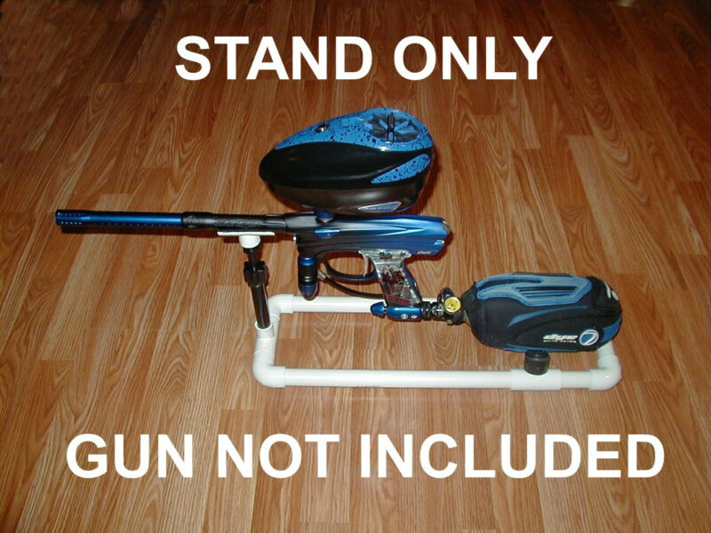 PAINTBALL GUN STAND, FITS, DYE,EGO,ION,PROTO,BOB LONG,FULLY ADJUSTABLE RISER