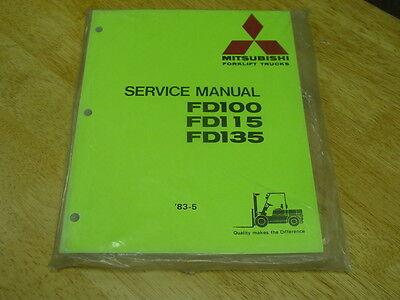 Mitsubishi Forklift Oem Service Manual Fd-100 115 135 New Lqqk