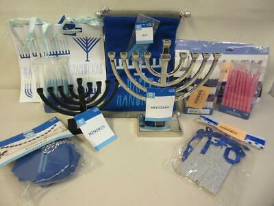 Lot of Hanukkah Party Supplies Candles Menorahs Banners Gift Bags Balloons (Hanukkah Supplies)