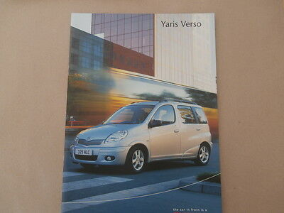 Toyota MR2 Yaris Verso brochure. 2003. In Uncirculated condition.