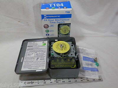 1 New Intermatic T104 Mechanical Timer 208277 Volt Dpst Water Pool Heater