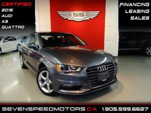 2015 Audi A3 2.0T QUATTRO   ACCIDENT FREE   CERTIFIED   FINANCE
