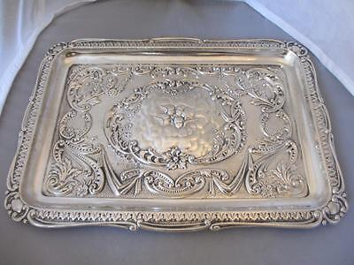 Sterling Silver Dressing Table Tray Antique Victorian Birmingham 1900. MTH01616