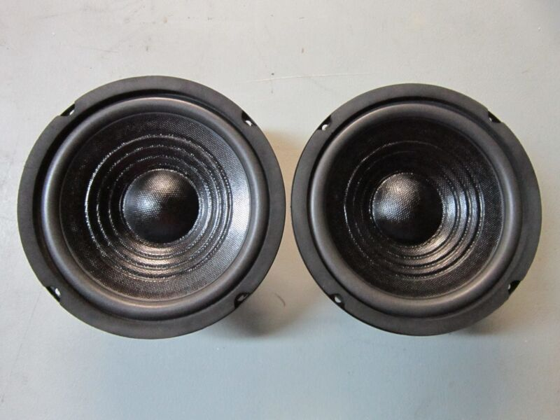 """NEW (2) 6.5"""" Subwoofer Speaker PAIR.8 ohm.Subs.6-1/2 Bass.DVC Dual Voice Coil."""