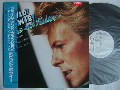 PROMO WHITE LABEL / DAVID BOWIE FAME AND FASHION / UN-PLAYED WITH OBI