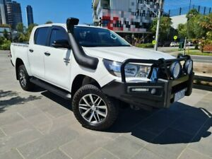 2018 Toyota Hilux GUN126R SR Double Cab White 6 Speed Sports Automatic Utility South Melbourne Port Phillip Preview