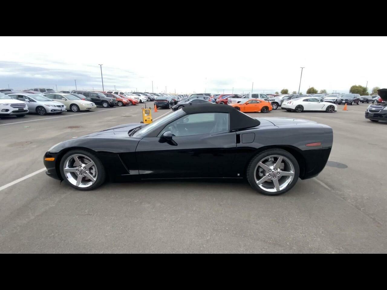 2007 Black Chevrolet Corvette Convertible    C6 Corvette Photo 1