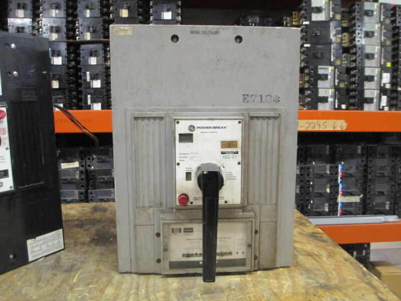 Ge Powerbreak Tpr6620 2000a 3p 600v Mo Circuit Breaker W/ I Used E-ok
