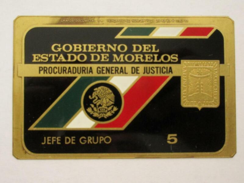 OBSOLETE 1960s MORELOS MEXICO PROCURADURIA GENERAL CHIEF MEXICAN POLICE BADGE